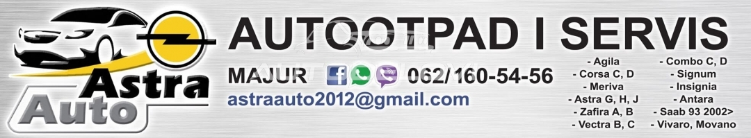 Kugla menjaca sa kozicom za Opel Astra H